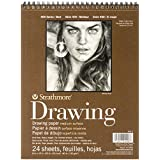 Strathmore Wire Bound Medium Weight Drawing Paper Pad, 8-Inch x 10-Inch, 24 sheets (400300)