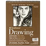 Strathmore 400300 80-Pound 24-Sheets Medium Wire Bound Drawing Paper Pad, 8-Inch X 10-Inch (400300)