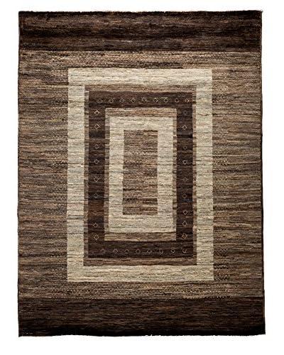 Darya Rugs Modern Oriental Rug, Brown, 5' x 6' 7