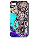 Custom Elephant Aztec Cover Case for iPhone 4 4S PP-1167 (Fashion design-1)