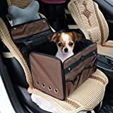 Pawhut Soft Sided Pet Travel Tote Bag Dog Carrier Seat - Brown