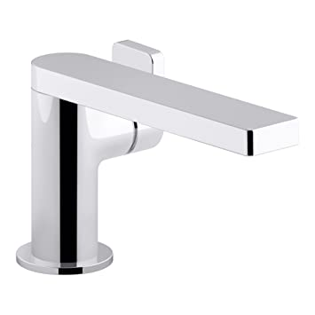 KOHLER K-73167-4-CP Composed Single-Handle Bathroom Sink Faucet with Lever Handle, Polished Chrome