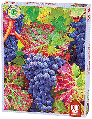Springbok Grapes on the Vine Delicious Delights Jigsaw Puzzle (1000-Piece)
