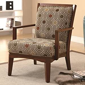 coaster accent chair geometric circle kitchen