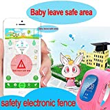VIGICA-Q50-Children-Smart-watch-Kids-GPS-Tracker-Wrist-Fitness-Bracelet-SOS-Call-Remote-Monitor-Pedometer-Parent-Control-by-iPhone-and-Android-Smartphones-Girls