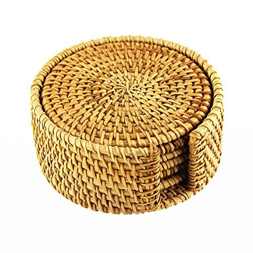 brila-hand-woven-rattan-coasters-with-multipurpose-coaster-holder-exotic-handmade-teacup-coasters-cr