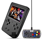 MEEPHONG Handheld Game Console, TV Output Retro FC Plus Extra Joystick NES Classic Game Console Built-in 168 Handheld Video Games (Black)
