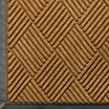 "Andersen 208 WaterHog Classic Diamond Polypropylene Fiber Entrance Indoor/Outdoor Floor Mat, SBR Rubber Backing, 8.4' Length x 3' Width, 3/8"" Thick, Gold"