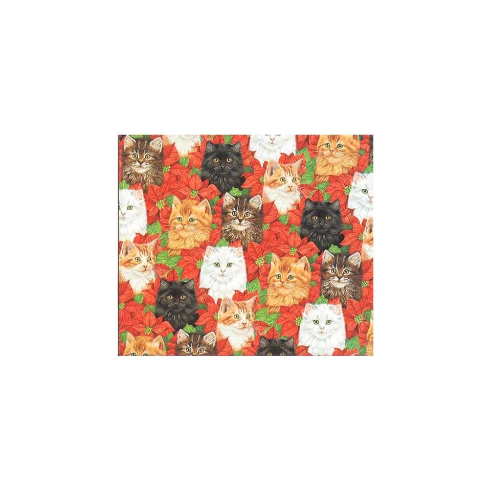 Black Cat Christmas Gift Wrap Paper