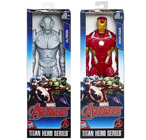 Marvel Titan Hero Series Iron-Man VS Ultron Action Figure Avengers Set
