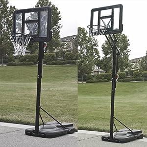 44 Adjustable Basketball Hoop Court System Goal Rim