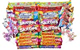 noshbox Sweet Candy Care Package Gift Box (40 Count) - Full Size Skittles, Starburst, Twizzlers, and More
