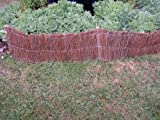 PACK 2 BRUSHWOOD HURDLE GARDEN LAWN EDGING. 1.2 X 0.2M