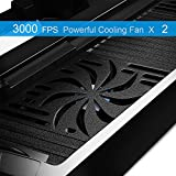 Amir-PS4-Cooler-for-Christmas-Gifts-PS4-Vertical-Stand-Cooling-Fan-PlayStation-4-Controller-Dual-Charging-Station-with-FREE-Dual-Charger-Ports-8-Controller-Cover-Caps-USB-Ports