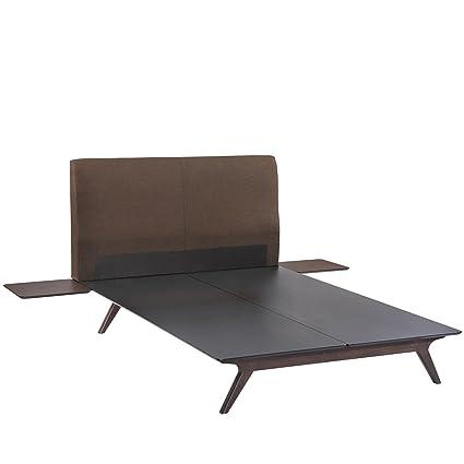 LexMod MOD-5257-CAP-BRN-SET Tracy 3-Piece Bedroom Set, Queen, Cappuccino Brown