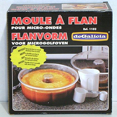 PLASTICOS DE GALICIA - Moule à Flan pour Micro-Ondes 20cm transparent*