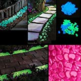 HuaYang Magic Light in the Dark Pebbles Stones Garden Fish Tank Path Walkway Ornaments Decoration 1Pack(Watermelon Red)