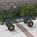 Best Choice Products® Wagon Garden Cart Nursery Trailer Heavy Duty Cart Yard Gardening Patio New