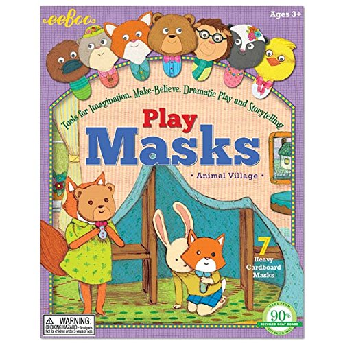Animal Village Play Masks - 1