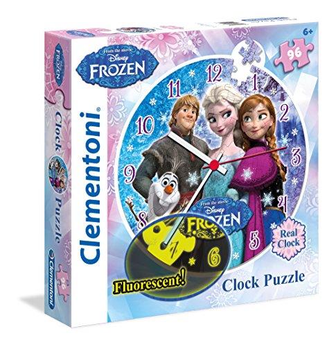 Clementoni-230211-Puzzleuhr-96-T-Frozen-Klassische-Puzzle