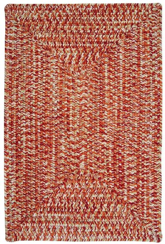 Braided 2'x3' Rectangle Area Rug in Blush color from Pure Collection