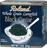 Roland Black Lumpfish Caviar, 2-Ounce Jars (Pack of 2)