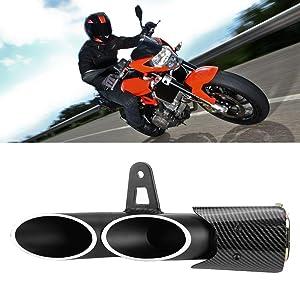 Dual-outlet Exhaust Tail Pipe Muffler Fit for Yamaha YZF-R6 Suzuki GSX-R LianDu Motorcycle Exhaust Muffler Pipe