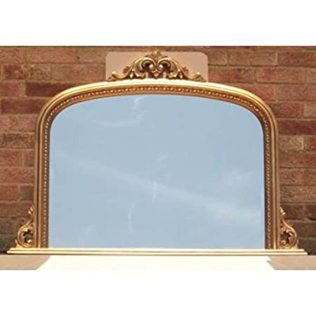 """Lucy Archtop Overmantle Mirror (4ft 2"""" x 3ft)"""