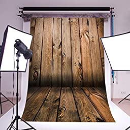 LB 5X7ft Wooden Wall & Floor Poly Fabric Photo Backdrops Customized Studio Background Studio Props QD06