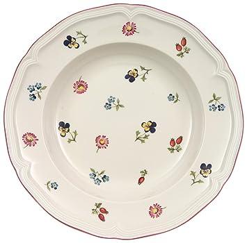 Cliquez Ici ᗖVilleroy   Boch Petite Fleur 23 cm Deep Plate Cuisine   Maison  Achètez-le maintenant 2053f23a630