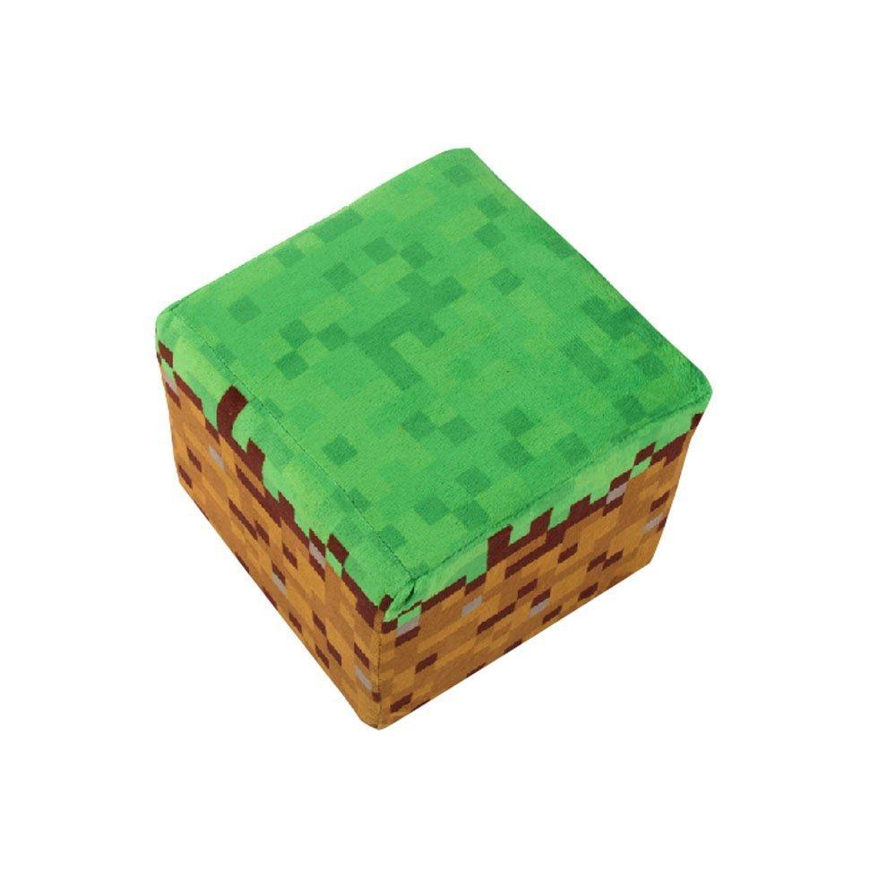 Minecraft (マインクラフト)草ブロック クッション ※ ミニクリーパーぬいぐるみ付!!