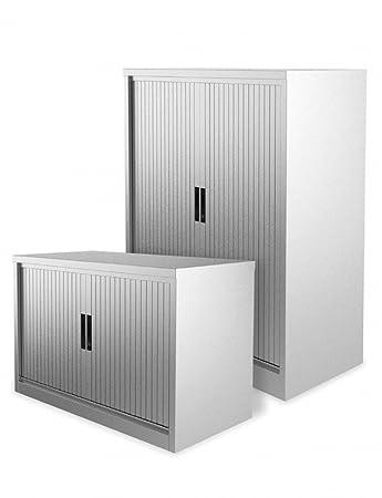 Office Elephant Premium 1651mm Two Door Steel Tambour Cupboard c/w 4 Shelves (MCAPSP1SD) - 5 Year Guarantee