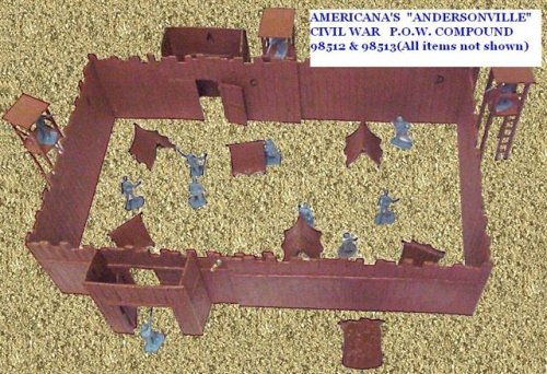 Buy Low Price Americana Large 2ft x 1ft Plastic toy WESTERN FORT for 2 inch 1/32nd Plastic Army Men Soldier Figures (B000ST5IPK)