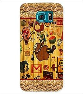 PrintDhaba Graffiti D-5097 Back Case Cover for SAMSUNG GALAXY S6 EDGE (Multi-Coloured)