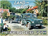 Original Metal Sign Co. Trevor Mitchell Land Rover Defender 110 Metal Wall Sign