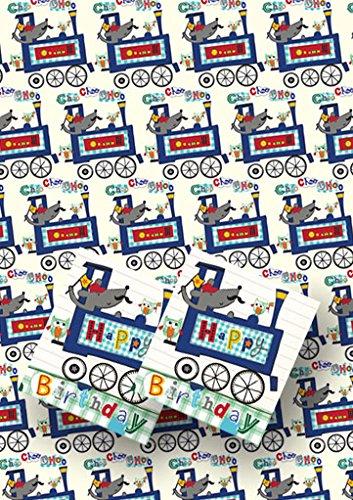 lusso-treno-confezione-regalo-2-fogli-con-etichette-regalo-coordinato-mini-card
