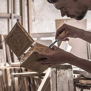 WAYCOM 24PCS Wood Knife Kit Set Wood Carving Kit,Professional Chisel Set, including Small, Middle, Large size (24PCS) (Color: 24PCS)