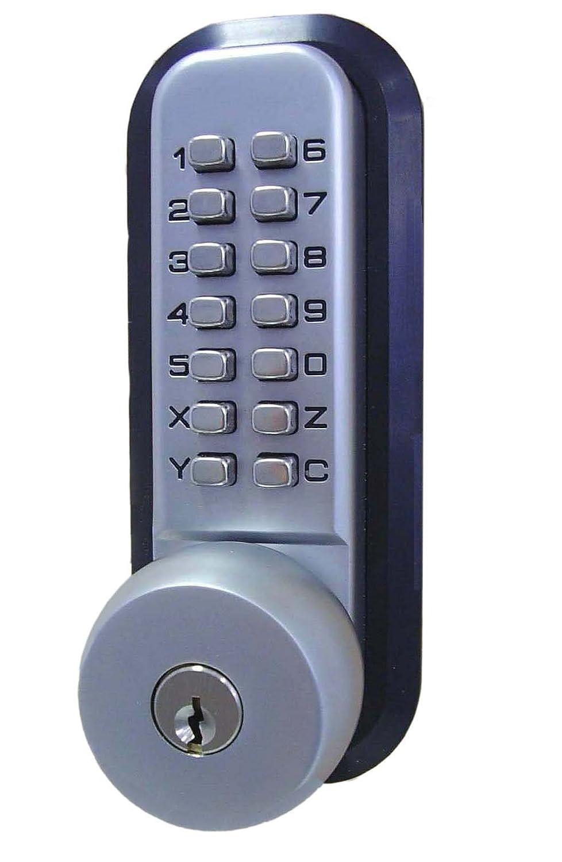 All-Weather Mechanical Keyless Deadbolt Door Lock - Satin Chrome