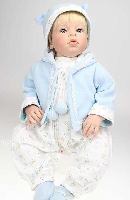 """Terabithia 28 """"Alive Soft Touch Silikon Wiedergeborene Baby Mädchen Puppe"""