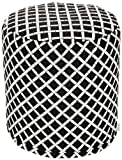 Majestic Home Goods Bamboo Pouf, Small, Black