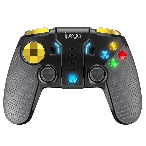 Ipega PowerLead PG-9118 Mobile Game Controller,Wireless BT 4.0 Gamepad Joystick Game Controller Compatible for PUBG iOS Smartphone Android Mobile Phone PC Android TV Box
