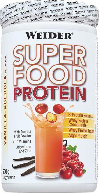 Weider Superfood Protein, Vanille-Acerola, 1er Pack (1x 500g)
