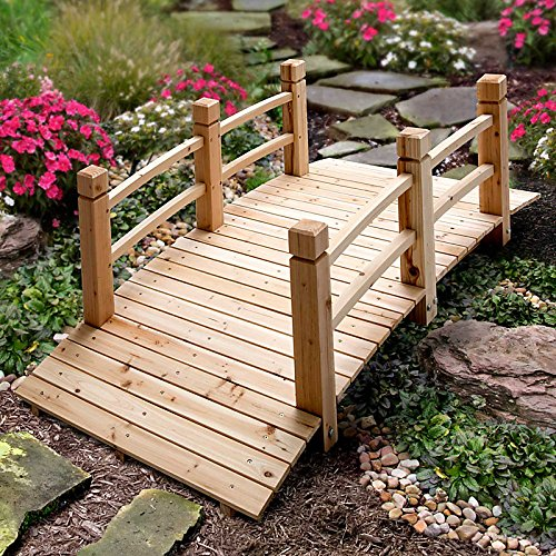 7-1/2 Wood Plank Garden Bridge with Rails - Improvements