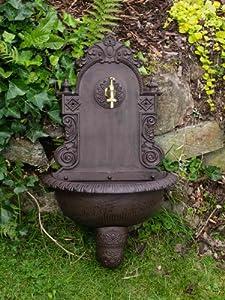 waschbecken wandbrunnen wein garten alu braun antik stil brunnen waschplatz bad garten. Black Bedroom Furniture Sets. Home Design Ideas