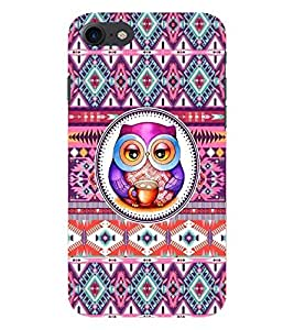 PrintVisa Stylish Cool Girl Print & Pattern Owl 3D Hard Polycarbonate Designer Back Case Cover for Apple iPhone 7