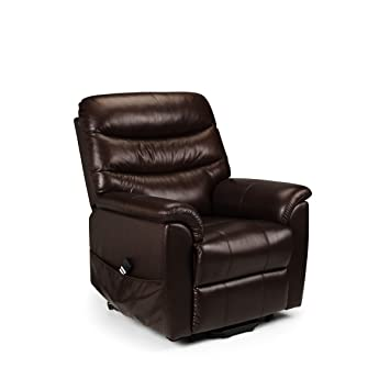 Pullman Leather Rise & Recline Chair Comfortable - Dual Motor