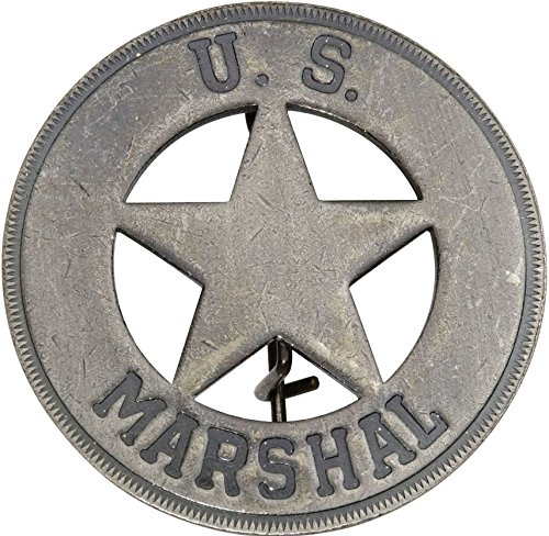 Costume Badge Round US Marshal Old West Prop