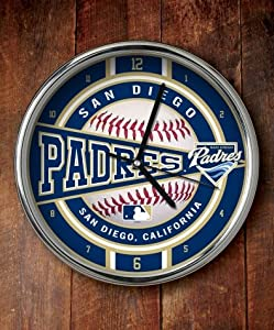 San Diego Padres Chrome Wall Clock by Caseys