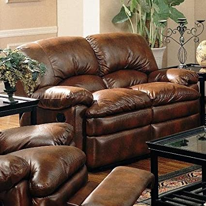 Coaster Home Furnishings 600332 Casual Motion Loveseat, Dark Brown