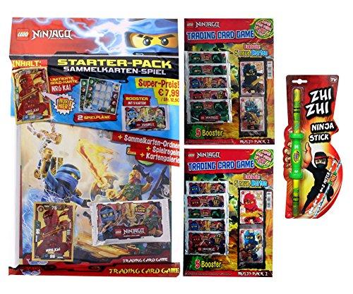 LEGO Ninjago Trading Cards - 1x Starter Set & 2er SET MULTI-PACK No 2 (